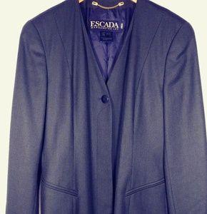 Escada Navy/green wool blazer jacket